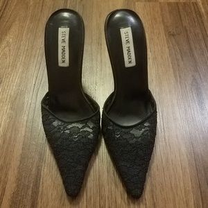 Steve Madden lace slip on pointed toe pump